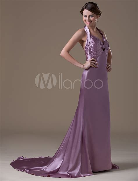 light purple maternity dress light purple a line halter spandex satin floor length