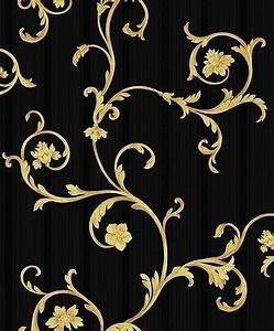 Tapete Barock Schwarz : 25 best ideas about barock tapete on pinterest gold bett galaxie schlafzimmer and kamin kunst ~ Eleganceandgraceweddings.com Haus und Dekorationen