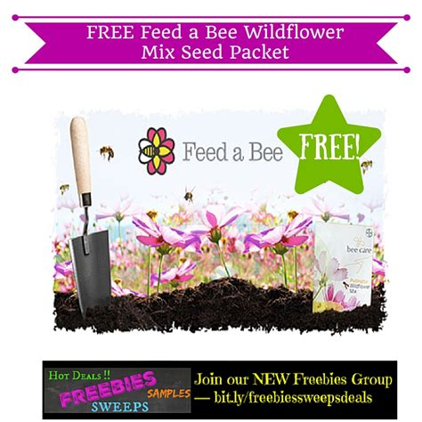 freebies offer  feed  bee wildflower mix seed packet