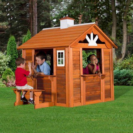 Backyard Cottage Playhouse by Backyard Discovery Summer Cottage Wooden Playhouse