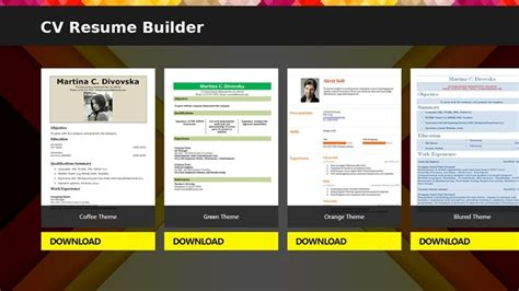 free professional resume builder software cv resume builder