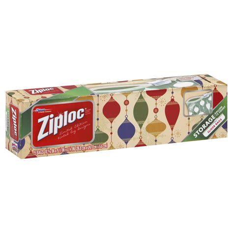 Ziploc Holiday Easy Zipper Storage Bags Gallon Size 15