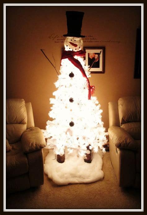 white christmas tree snowman snowman christmas tree