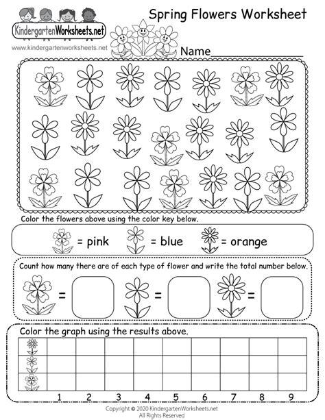 spring worksheets  kindergarten kids activities