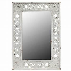Miroir Blanc Baroque : miroir baroque blanc rectangulaire ~ Teatrodelosmanantiales.com Idées de Décoration
