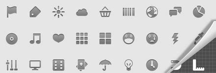 mobile icon set gratuite