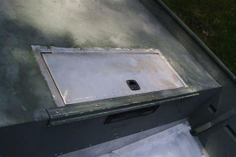 Aluminum Boat Hatch Lids by Custom Fabrication Fishon Fabrications