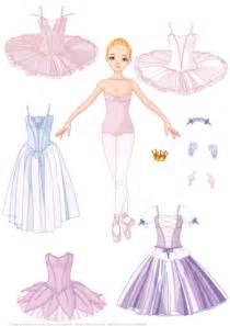 paper doll   girl ballet dancer   costumes