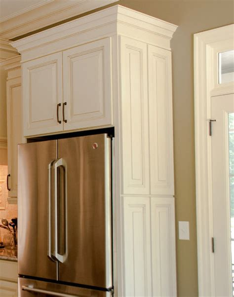 refrigerator surround design ideas remodel pictures