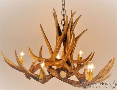 ceiling faux antler chandelier light deer picture