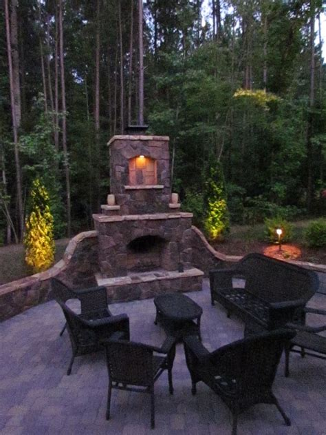outdoor fireplace lighting 24 best images about charlotte outdoor fireplaces on pinterest fire pits charlotte and columns