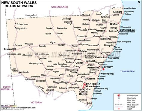 south wales road map travel pinterest