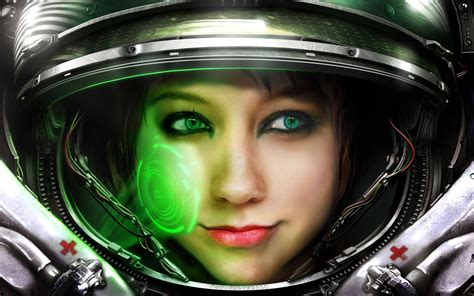 Wallpaper Starcraft 2 Smile Boxxy Medic Starcraft