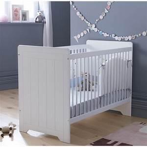 Lit Bébé Bois Et Blanc : lit b b barreaux blanc 60x120 avec tiroir en option ~ Teatrodelosmanantiales.com Idées de Décoration
