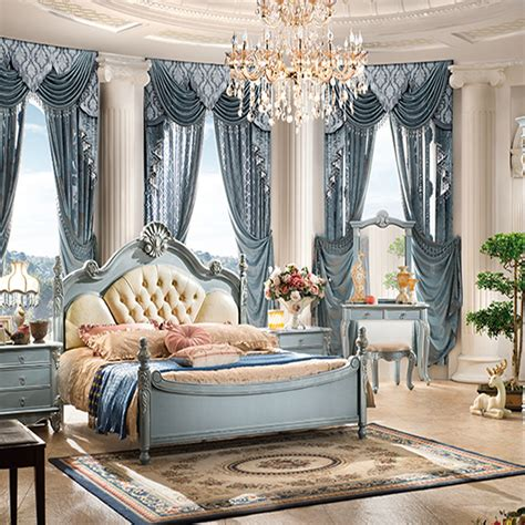 2016 The Antique French Style Luxury Classic Wood Bedroom