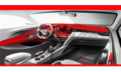 hyundai veloster interior previewed  digital dash