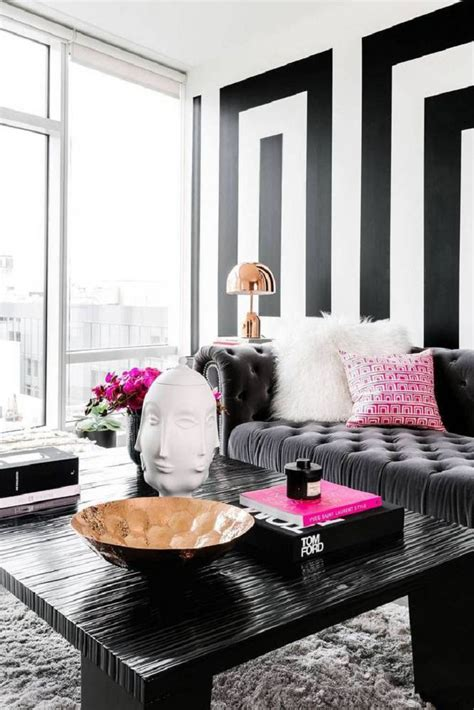 black and gray room interesting black and grey living room ideas black white pattern wall black stripes table dark
