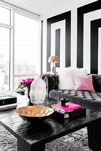 Interesting black and grey living room ideas black white ...
