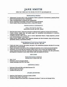 Resume Template Trump Dark Blue