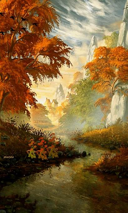 Autumn Gifs Nature Iphone Welcome Animated Hidup