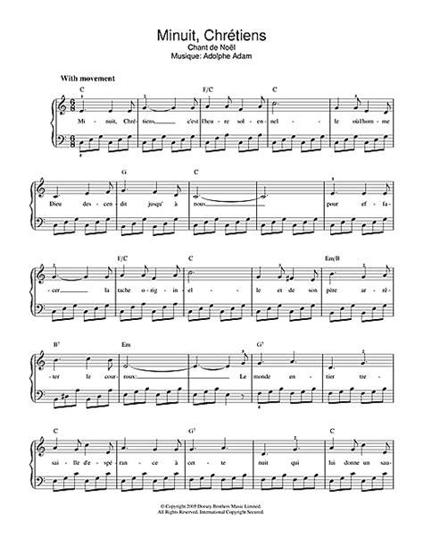 minuit chr 233 tiens partition par chant de no 235 l piano et