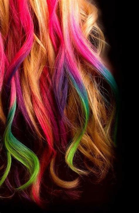 Hair Chalking Long Hairstyles How To