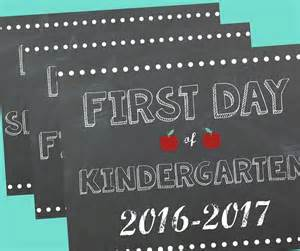 2016 Free Printable First Day School Signs