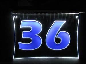 Hausnummer Beleuchtet Led : steba cncdesign hausnummer nummerisch beleuchtet ~ Frokenaadalensverden.com Haus und Dekorationen