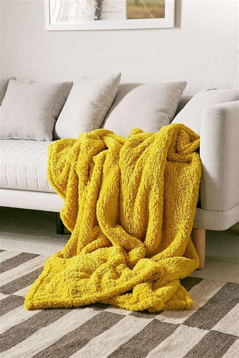 amped fleece throw blanket yellow throw blanket yellow