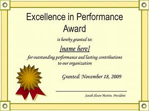 Effective Certificate Award Template Example For