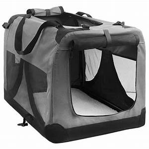extra large portable soft pet dog crate cage kennel grey With xl soft dog crate