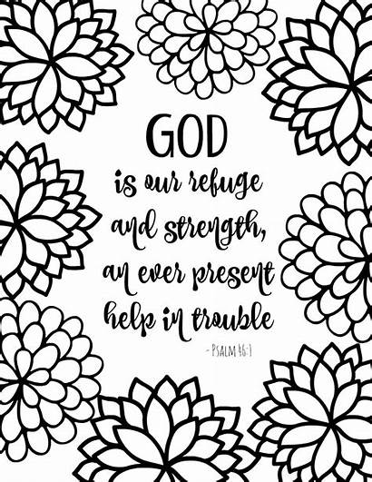Coloring Bible Verse Printable God Psalm Flower