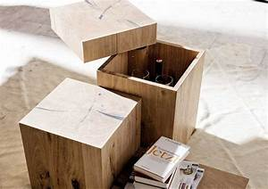 Wohnzimmermöbel Weiß Holz : beistelltisch holzblock komplett mit lagerung f r rustikale wohnzimmerm bel ideen ~ Frokenaadalensverden.com Haus und Dekorationen