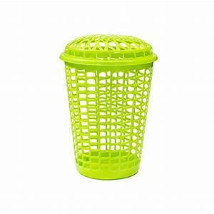 Bac à Linge : bac linge 50l vert fluo avec couvercle sfoi ~ Teatrodelosmanantiales.com Idées de Décoration
