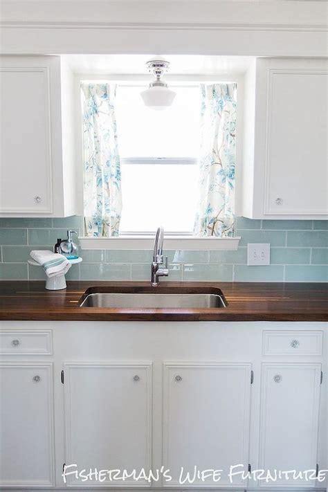 nautical kitchen backsplash diy coastal kitchen makeover countertops cabinets and 1051