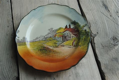 royal doulton countryside series country cottage  rack plate decorative plate collectors