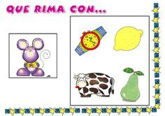 rimas images rhyming activities bilingual