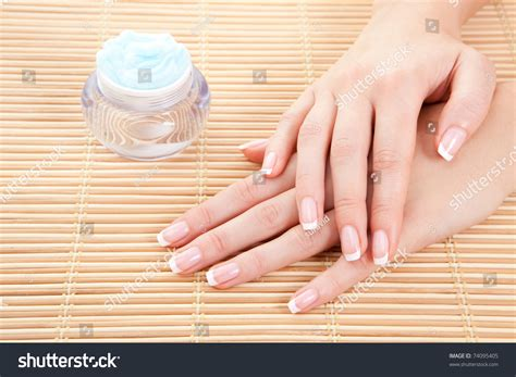 Care Sensuality Woman Hands Stock Photo 74095405