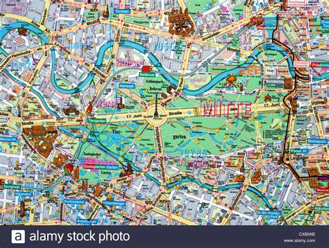 nahaufnahme von einer karte von berlin mitte deutschland