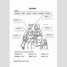 Family Members He She  Esl Worksheets Of The Day  Teaching English, Family Worksheet, English