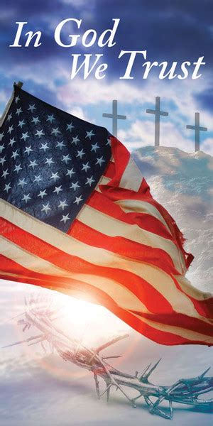 church banner patriotic  god  trust