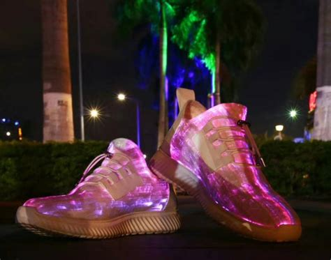 China Light Up Rgb Led Fiber Shoes Manufacturers And