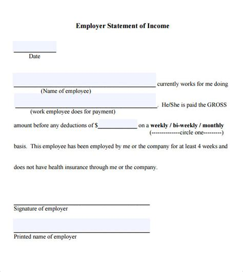 income verification form template 7 proof of income letter pdf sle templates