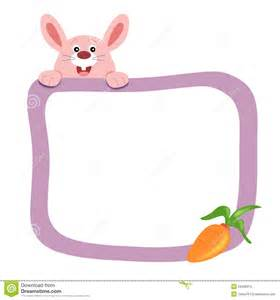 a frame plans frame with rabbit stock photography image 23499912