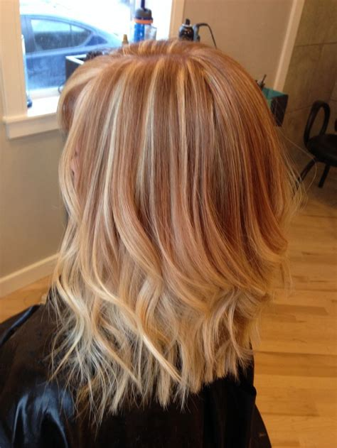 ideas  strawberry blonde highlights