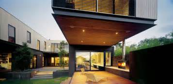 contemporary modern house modern terrace design in contemporary house with floating building olpos design