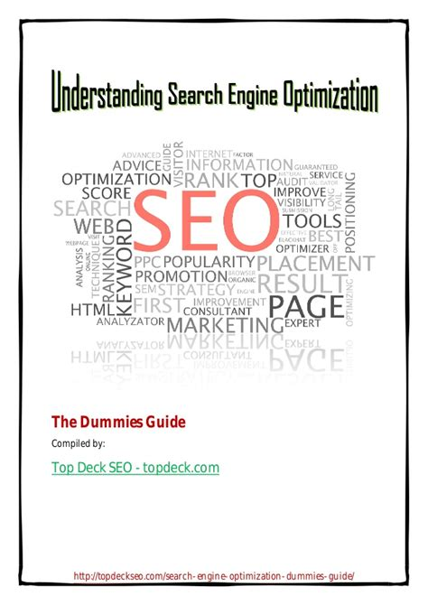 Understanding Search Engine Optimization by Understanding Search Engine Optimization The Dummies Guide