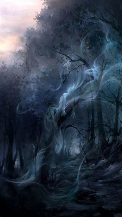 Dark Forest Enchanted Ghost Mobile Wallpapers