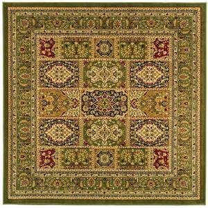 rugs for kitchen floors safavieh lyndhurst multi green 8 ft x 8 ft square area 4951