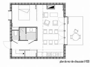 plan interieur de maison cubique ventana blog With maison bois toit plat 15 cube 180 hci constructions